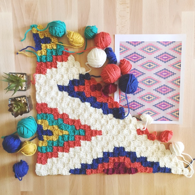 Southwestern Style Crochet Throw Stuff Steph Makes